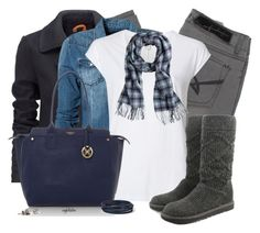 """""""Cozy Scarf and Boots"""" by angkclaxton ❤ liked on Polyvore featuring Firetrap, Superdry, Replay, Witchery, J.Crew, Fiorelli, UGG Australia and Nordstrom"""