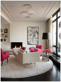 Home-Styling: I& a great Jonathan Adler Fan - Sou uma grande f? do Jonathan Adler Living Room Modern, Home Living Room, Living Room Decor, Living Spaces, Decor Room, Living Area, Barn Living, Cozy Living, Small Living