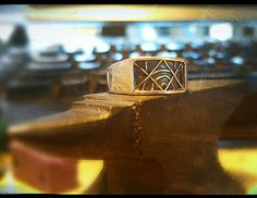 Solid, 100% Silver ring for Men. Hand-crafted from scratch, polished and antiqued for a high contrast, comfortable finish.
