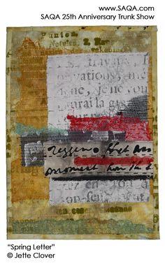 Art quilt by Jette Clover #artquilts #SAQA
