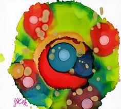 Alcohol Ink Art on Yupo  Holiday Spirit by BrushPoet on Etsy