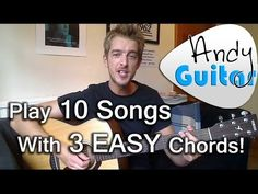 Play TEN songs with three EASY chords G A and D| Beginners guitar lesson - YouTube