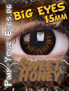 Pimp-Your-Eyes.de - farbige Kontaktlinsen - braune Manga Kontaktlinsen - Big Eyes - Sweet Honey braune Mangalinsen - Big Eyes - Sweet Honey