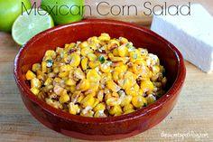 Mexican Corn Salad - The Sweet Spot Blog http://thesweetspotblog.com/mexican-corn-salad/ #corn #grilledcorn #mexican #food #salad #vegetarian