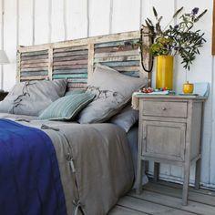 Faire une tet de lit utiliser une vieille porte pour tete de lit maison - Faire une tete de lit ...