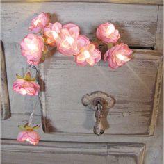 Vintage Pink   Wild Roses Fairy Lights by PamelaAngus on Etsy, €17.00