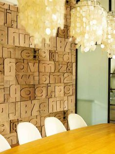 Letters and numbers 3 D wallpaper