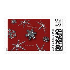 Snowflakes Stamp (red background) - Xmascards ChristmasEve Christmas Eve Christmas merry xmas family holy kids gifts holidays Santa cards