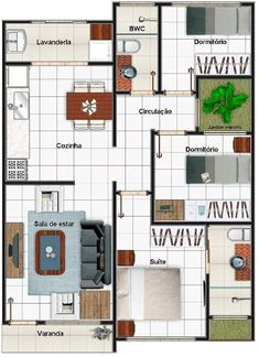 Modelos y planos de casas 1 piso 3 dormitorios barriles for Casa moderna 80m2
