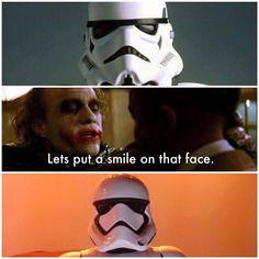 Joker: madman and helmet designer... #TheJoker #StarWars / http://saltlakecomiccon.com/slcc-2015-tickets/?cc=Pinterest