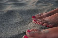 barefoot on the sand...