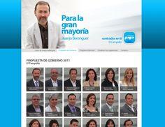 Pulso Popular. Web para campaña grupo política de El Campello. Alicante. 2011.