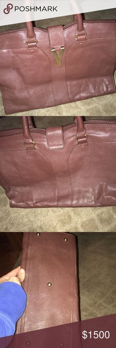 Yes Saint Laurent purse In very good condition is authentic I have all the information to prove so. It's a YSL Sac Muse purse. On the side it could use just a small cleaning on the leather. But over all very good condition Yves Saint Laurent Bags Hobos