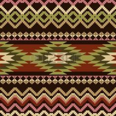 Ethnic geometric ornamental seamless pattern photo