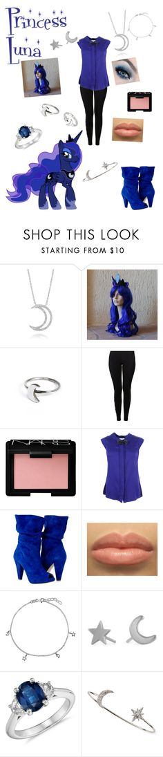"""""""Princess Luna from my little pony"""" by zamantha-palazuelos ❤ liked on Polyvore featuring A. Link, My Little Pony, Holly Ryan, NIKE, NARS Cosmetics, Milly, BERRICLE, Social Anarchy, Blue Nile and Tai"""