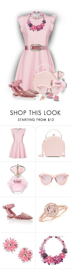 """""""Embellished Shoes in WearIt(OUTFIT ONLY) - PINK"""" by sarahguo ❤ liked on Polyvore featuring MSGM, Nancy Gonzalez, Karen Walker, Aquazzura, Moschino, NOVICA and Roger Vivier"""