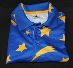 Club Disney Polo Shirt Size S Small Blue Sorcerer's Apprentice Stars #Fashion #Style #Deal