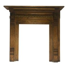Antique Architectural Early American Victorian Carved Wood Fireplace Mantel - Image 1 of 10 Fireplace Mantel Surrounds, Wood Fireplace Mantel, Fireplace Mirror, Architectural Antiques, Early American, Carved Wood, Entryway Tables, Victorian, Carving