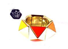 Bracelete Cubist Laranja - Salvador Kayumi