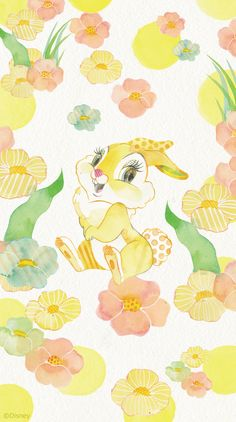 Disney's Miss. Bambi Disney, Disney Fun, Disney Cartoons, Rabbit Wallpaper, Angel Wallpaper, Disney Illustration, Illustrations, Sanrio, Spring Wallpaper