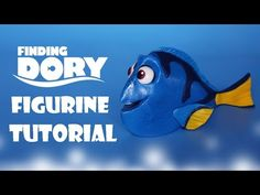 TheCakingGirl: How To Make Dory Figurine Cake Topper Tutorial