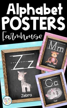 Farmhouse Animal ABC Posters - Printable Alphabet Posters for Classroom - Enjoy this adorable set of printable Farmhouse style ABC posters for your classroom! Each alphabet poster features a chic farmhouse design with an animal. These posters are the perfect addition to your walls and bulletin boards! Great for word walls and high frequency sight words. #abc #kindergarten #alphabet #posters #farmhouse #literacy #elementary #preschool #primary #wordwall Alphabet Posters, Abc Poster, Printable Alphabet, Classroom Posters, Classroom Decor, Classroom Organization, Abc Kindergarten, Preschool, Farmhouse Design