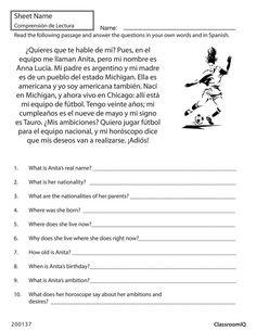 27 best spanish worksheets level 1 images on pinterest spanish 1 spanish class and spanish. Black Bedroom Furniture Sets. Home Design Ideas