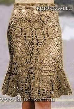 Fabulous Crochet a Little Black Crochet Dress Ideas. Georgeous Crochet a Little Black Crochet Dress Ideas. Black Crochet Dress, Crochet Skirts, Crochet Tunic, Knit Skirt, Crochet Motif, Crochet Designs, Crochet Clothes, Crochet Lace, Crochet Patterns
