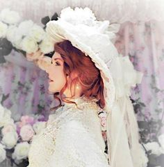 Victorian Romance Ivory Creme Bridal Wedding Hat With Train AU$275.43