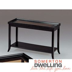 Boulevard Soft Black Sofa Table Living Room Seating, New Living Room, Living Spaces, Black Sofa Table, Entryway Tables, Hardwood, Home And Garden, Contemporary, Bed