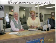 Madeline Hudson and Dot Wolfgang lend a hand at the front desk.