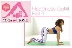 Happiness toolkit    Welcome to yoga happiness... with Sylvia Garcia    Here, you will find poses to lift your mood including some back bending, some shoulder opening and some balance poses – because it's really great to focus on
