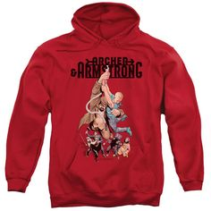 Archer & Armstrong Hang in There Red Hooded Sweatshirt