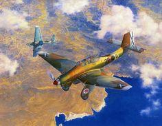 Junkers Ju-87A-1 Stuka over Spain  SCW