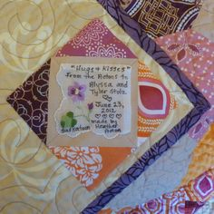 Handkerchief quilt label