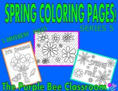 Thanks for looking!SPRING Coloring Pages-3 different pages to color!SPRING COLORING PAGES SERIES 5 You may print as many of these as you would like for personal/classroom use!Flowers, Spring, Chevron, Fun!If you like this product, please check out my other similar…