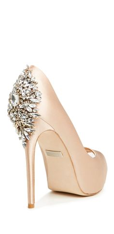 Crystal heel jeweled pumps - stunning