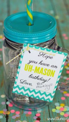 Uh-Mason-ingly cute gift idea!