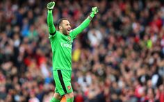 Download wallpapers Arsenal, David Ospina, match, goalkeeper, footballers, The Gunners, soccer, Premier League