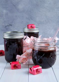 Mon Cheri® Marmelade Sweet Cherry - Food with Love - Thermomix Desserts, Gourmet Desserts, Crepes, Nutella, Sweet Cherries, Vegetable Drinks, Mon Cheri, Healthy Eating Tips, Food Menu