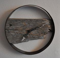 Orologio di parete di legno del granaio rustico di sitzj su Etsy