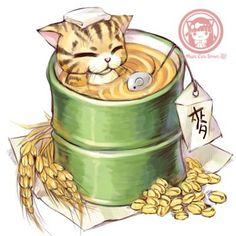Чайные котики от Magic Cats street: прекрасные иллюстрации к различным сортам любимого напитка - Ярмарка Мастеров - ручная работа, handmade