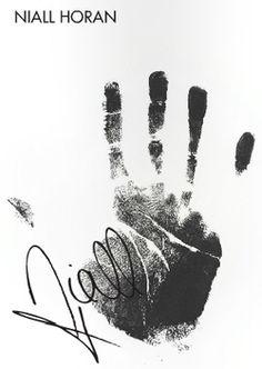 Niall's handprint.