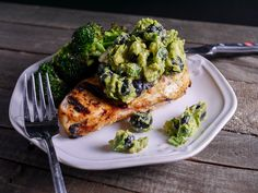 Grilled Chicken with Blueberry Guacamole via @April D