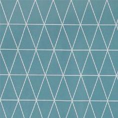 Wachstuch Staubblau Grafisch Muster