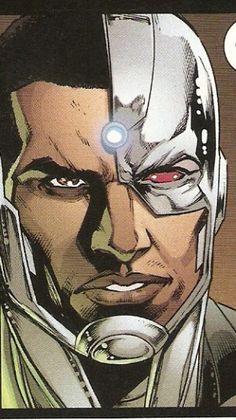 Cyborg Dc Comics, Dc Comics Superheroes, Dc Comics Art, Marvel Comics, Comic Face, Dc Comic Books, Dc Heroes, Illustrations And Posters, Teen Titans