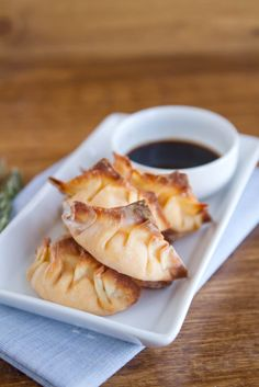 Baked sweet potato potstickers #dinner #vegetarian