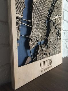 New York City Map New York Map Artwork Map of New York Wall