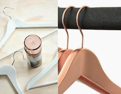Meet Your New Best DIY Friend: Copper Spray Paint. Really nice improvement - Simple Wood hanger look so much handsome in this copper paint iteration