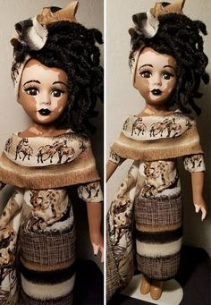 Kay Black, aka Kay Customz, creates unique custom-made dolls inspired by real people. Her newest, beautiful creations are amazing dolls with vitiligo. The artist paints the skin of her dolls with intricate patterns inspired by images of women and girls who have this condition and creates different styles fitting each doll.